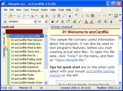 Modern replacement to MS Cardfile.exe for all 32-bit Windows. Get Organized. Screen Shot